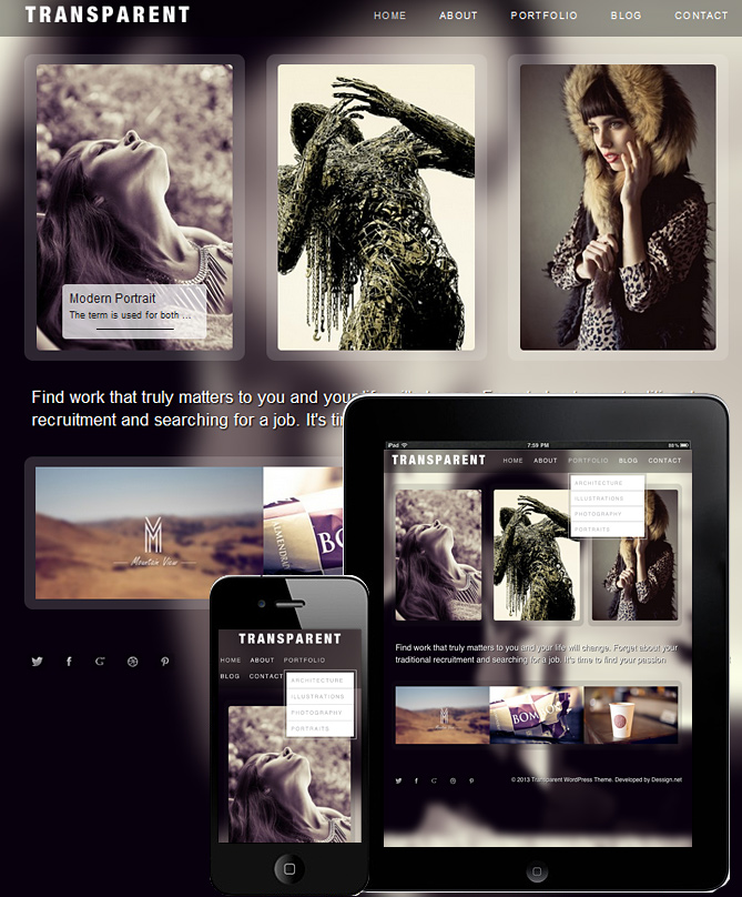 transparent-wordpress-theme