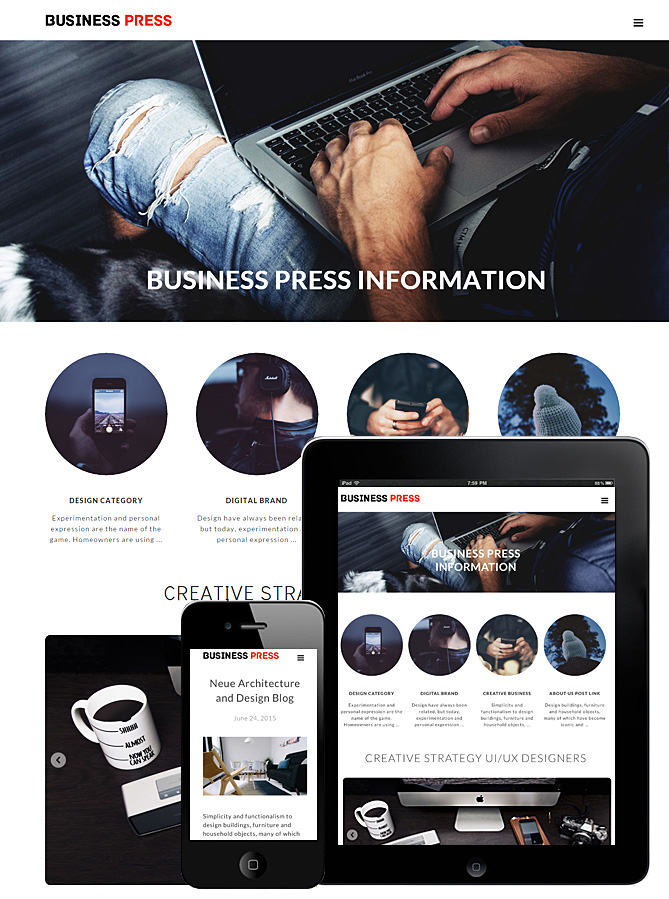 business-press-theme